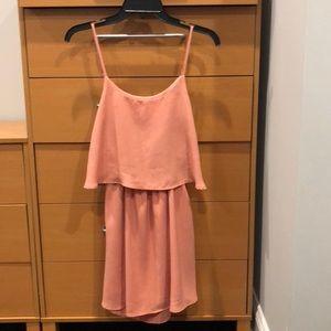 Open back pink dress
